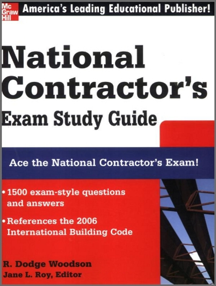 National Contractor's Exam Study Guide - ISBN#9780071489072