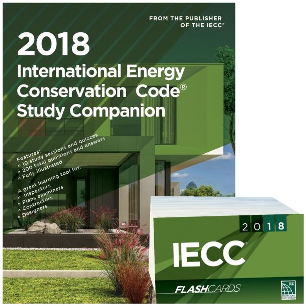 2018 International Energy Conservation Code Study Companion and Flash Card Set