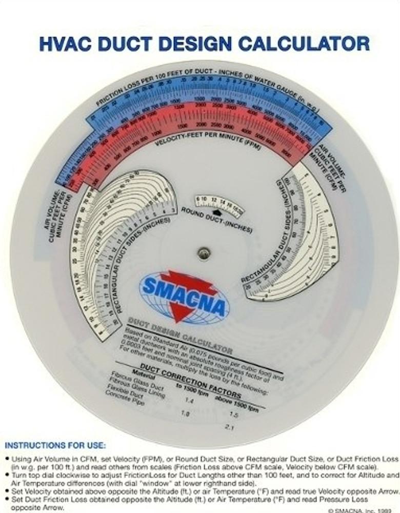 HVAC Duct Design Calculator-Metric