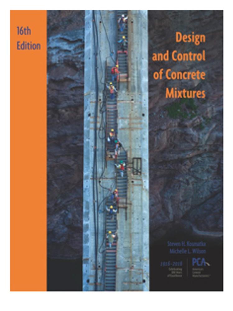design and control of concrete mixtures 16th edition 2016 portland cement association skokie il