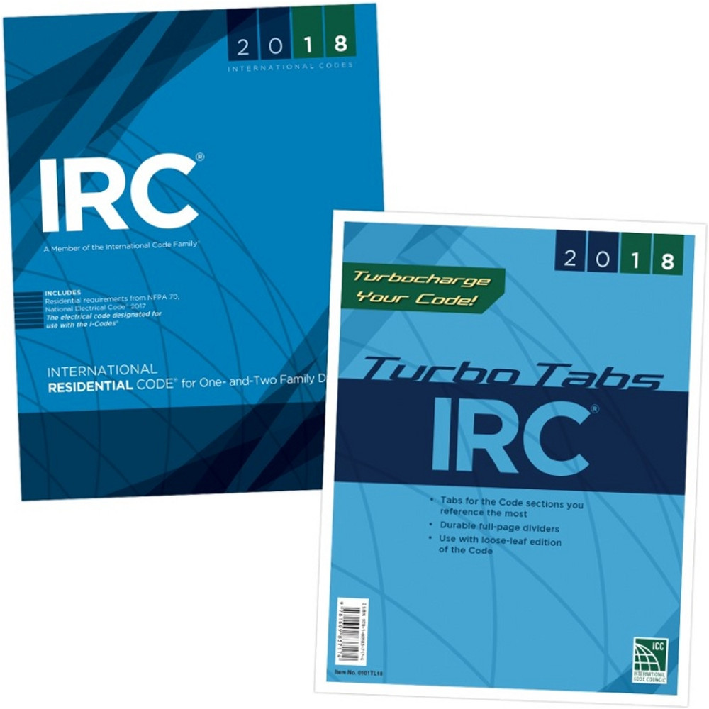 2018 International Residential Code & Tab Set