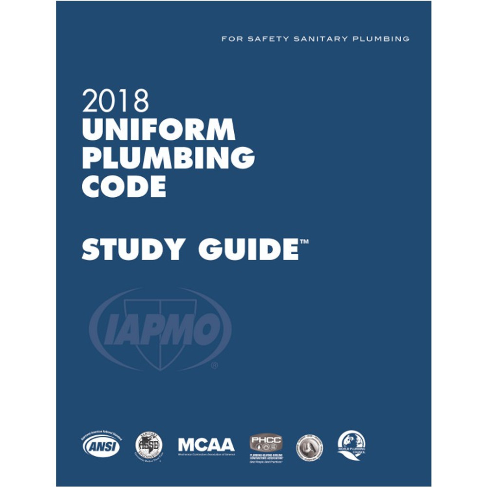 2018 Uniform Plumbing Code Study Guide - ISBN#9781944366216