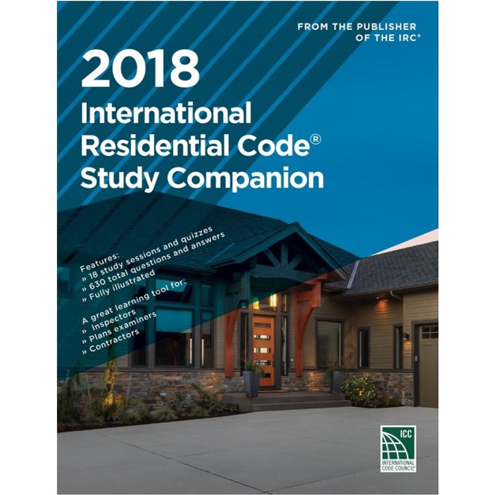 2018 International Residential Code Study Companion - ISBN#9781609837938