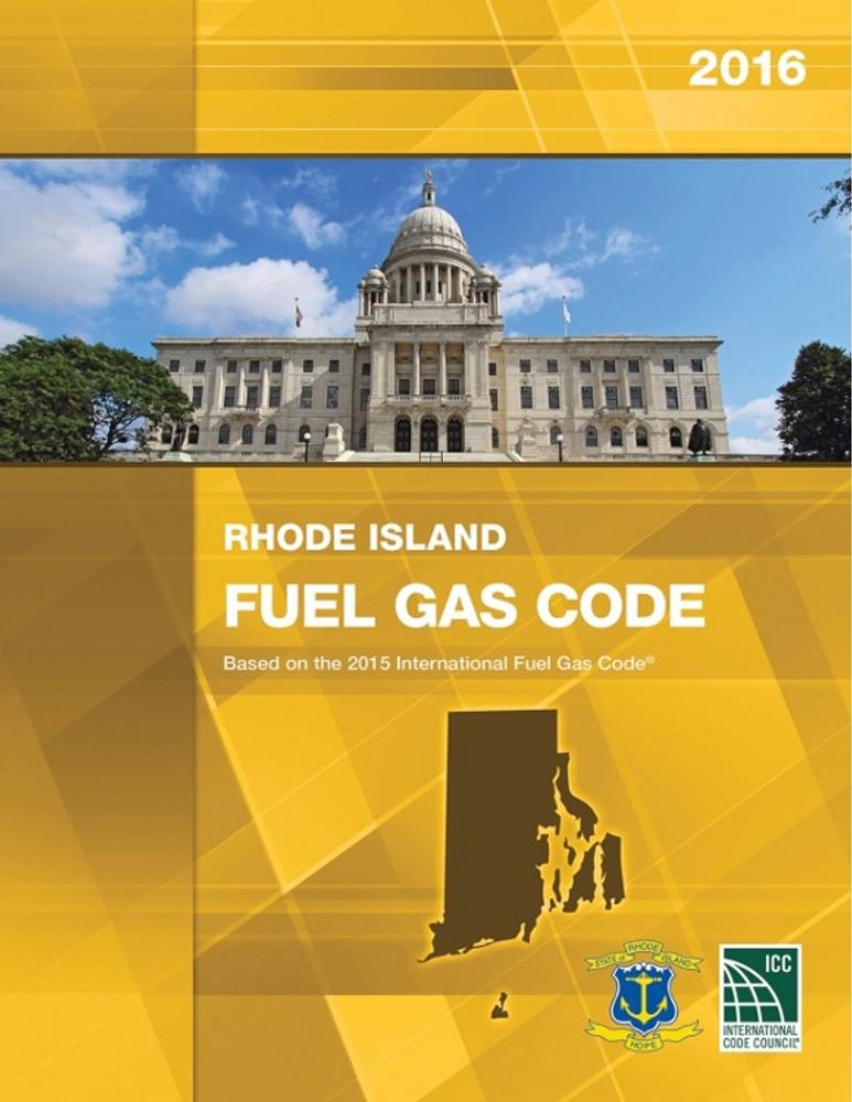 2019 Rhode Island Fuel Gas Code - ISBN#9781609836344