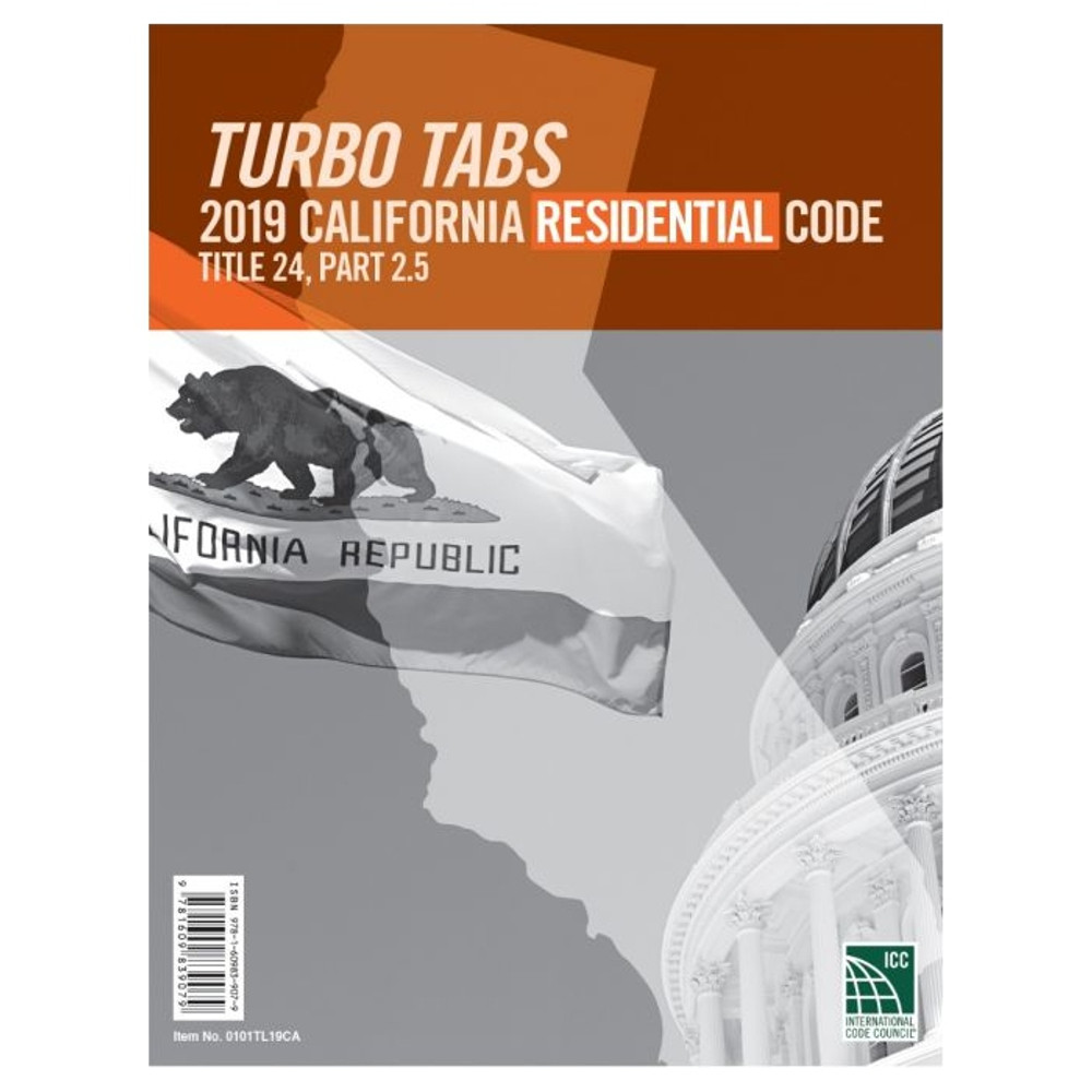2019 California Residential Code Turbo Tabs