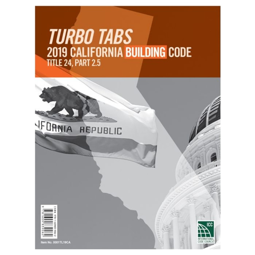 2019 California Building Code Turbo Tabs
