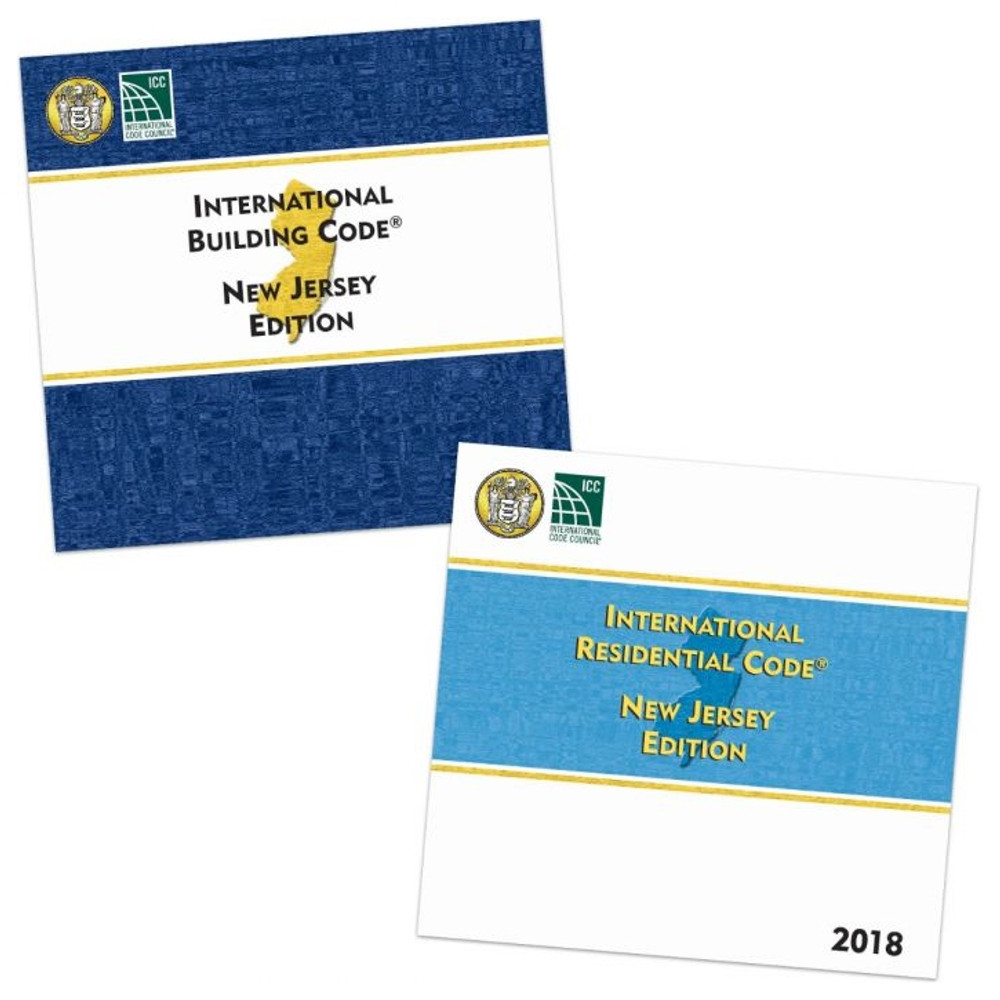 2018 International Building Code and 2018 International Residential Code New Jersey Editions
