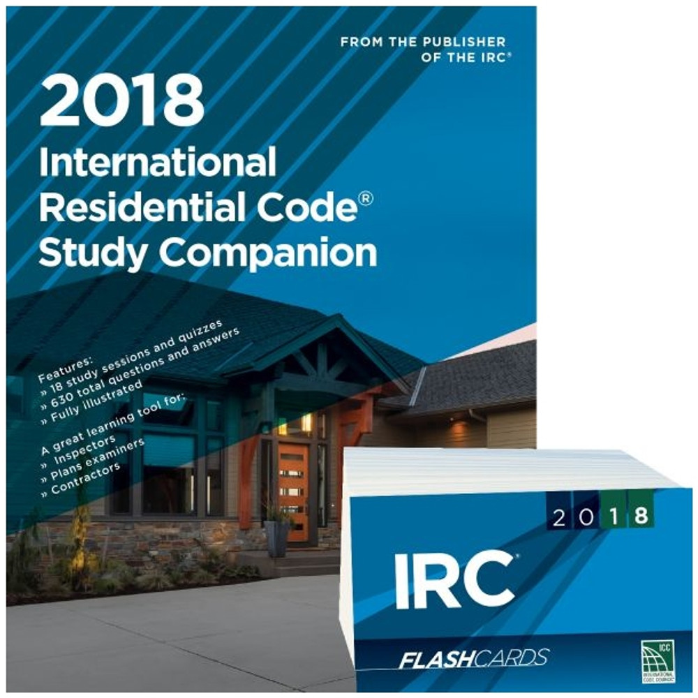 2018 International Residential Code Study Companion and Flash Card Set
