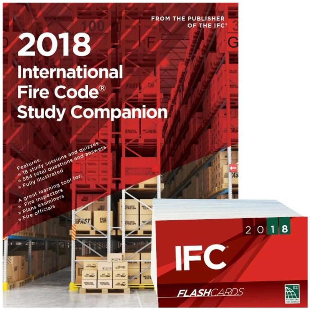 2018 International Fire Code Study Companion and Flash Card Set