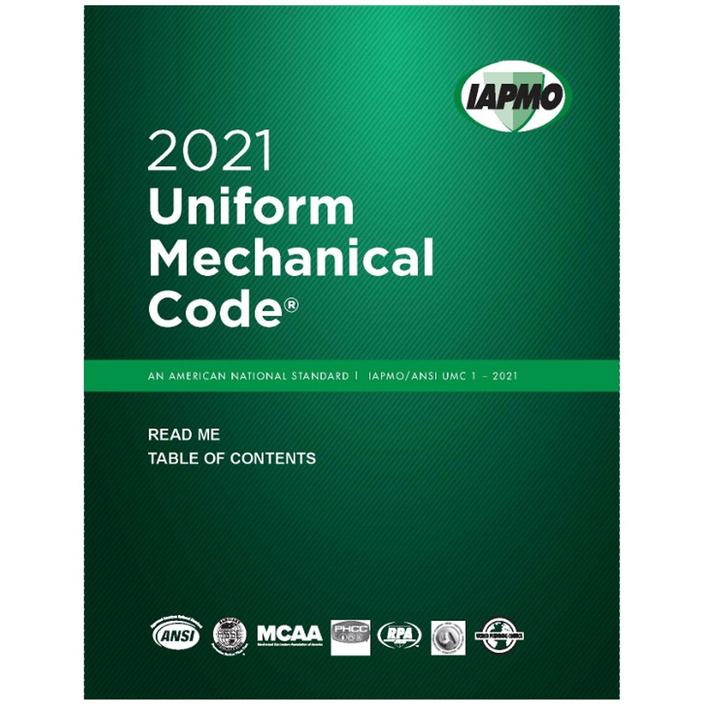 2021 Uniform Mechanical Code