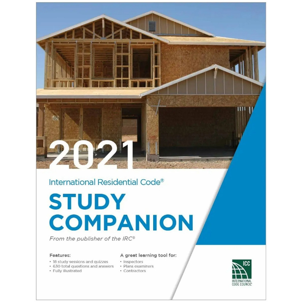 2021 International Residential Code Study Companion - ISBN#9781955052245