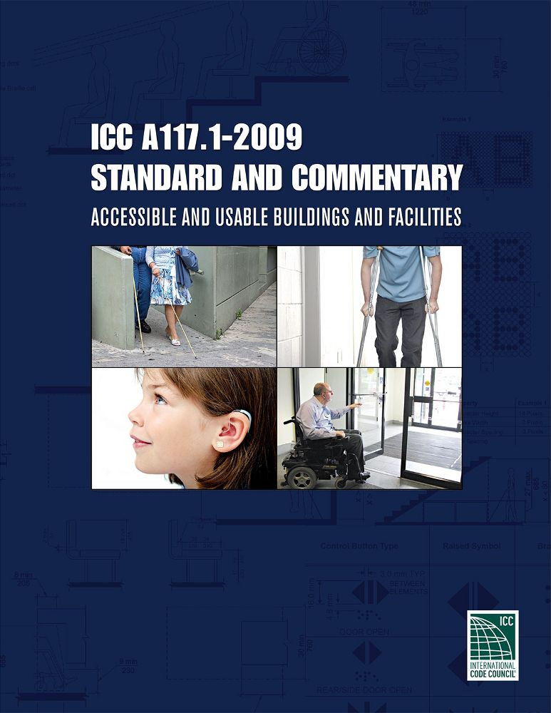 ICC A117.1-2009 Standard and Commentary - ISBN#9781609834081