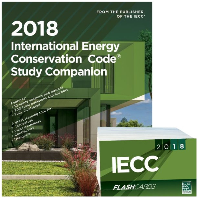 2018 International Energy Conservation Code Study Companion and Flash Card Set
