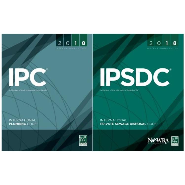 2018 International Plumbing Code and International Private Sewage Disposal Code Set