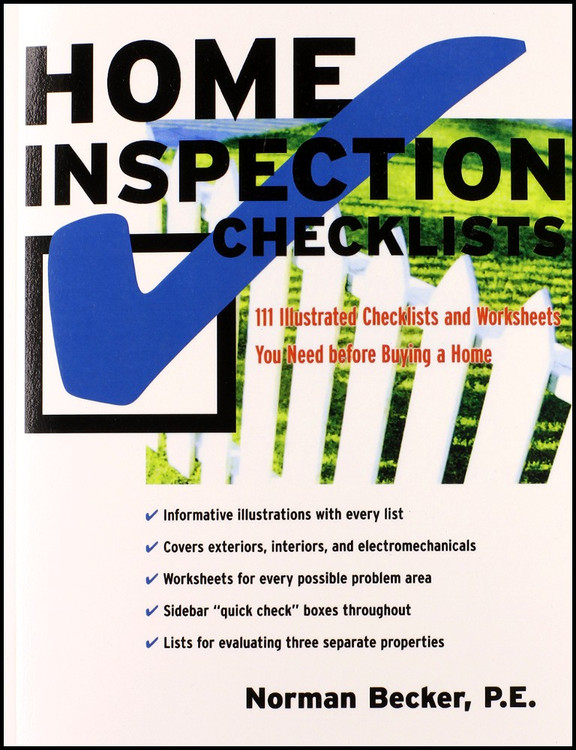 Home Inspection Checklists: 111 Illustrated Checklists and Worksheets You Need Before Buying a Home - ISBN#9780071423045