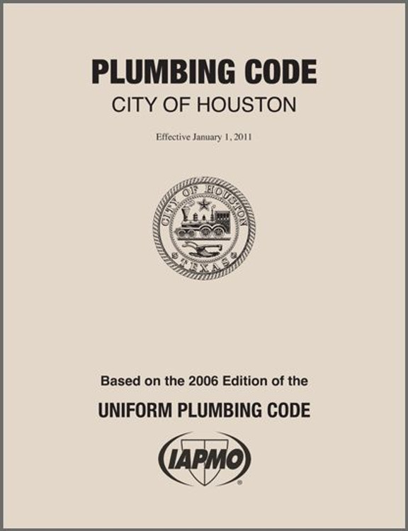 2011 Houston Plumbing Code Amendments