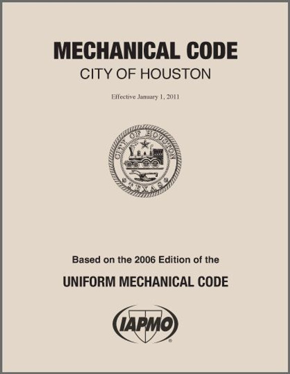 2011 Houston Mechanical Code Amendments