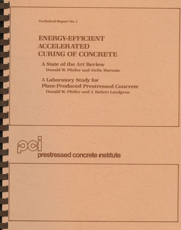 Energy Efficient Accelerated Curing of Concrete - ISBN#9780937040195