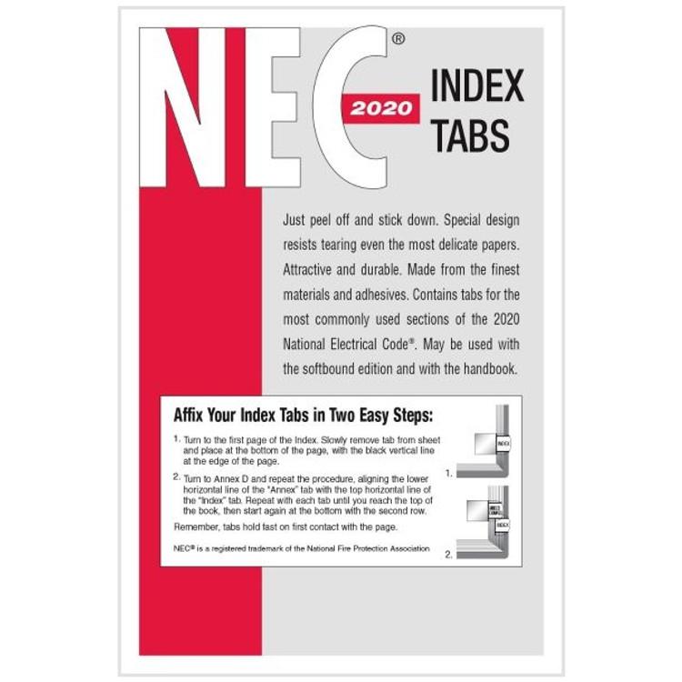 2020 NEC Index Tabs