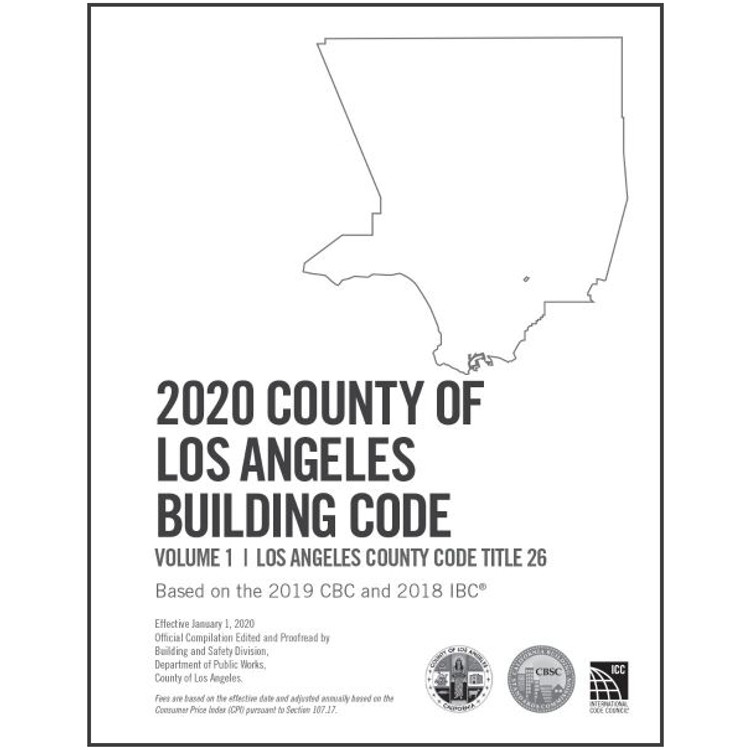 2020 County of Los Angeles Building Code Amendments - ISBN#9781609839444