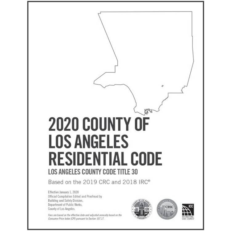 2020 County of Los Angeles Residential Code Amendments - ISBN#9781609839451