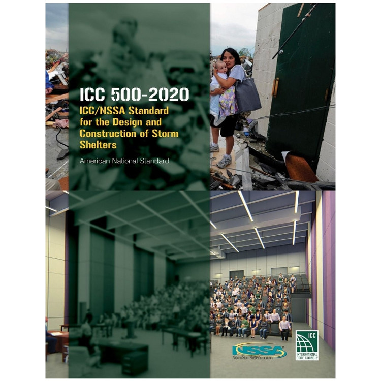 ICC 500 Standard for the Design and Construction of Storm Shelters - ISBN#9781952468933