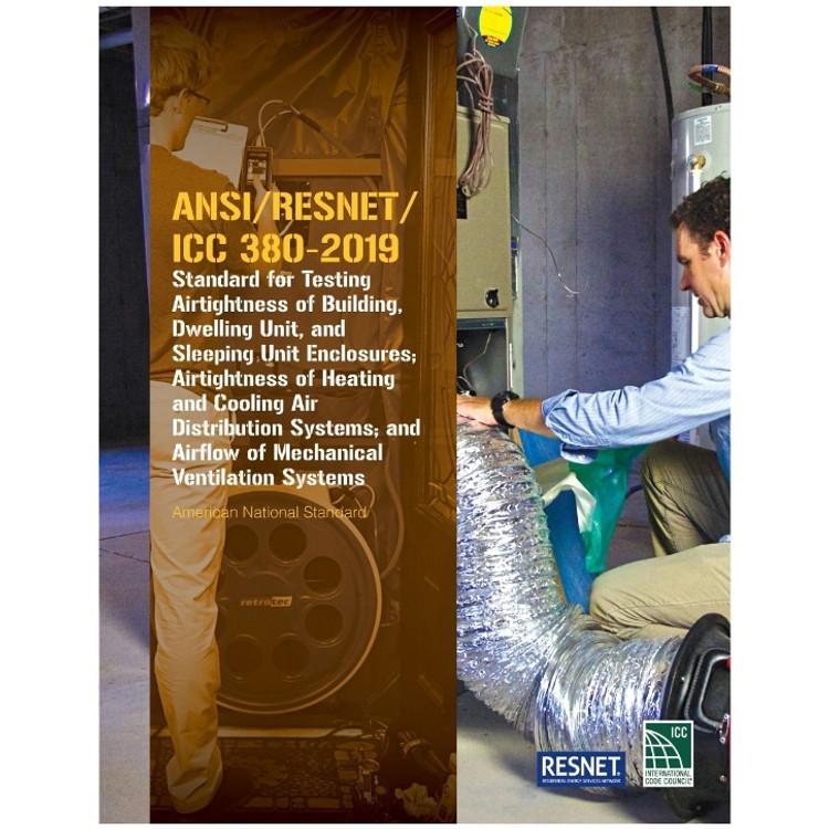 ANSI/RESNET/ICC 380-2019 - ISBN#9781609838799