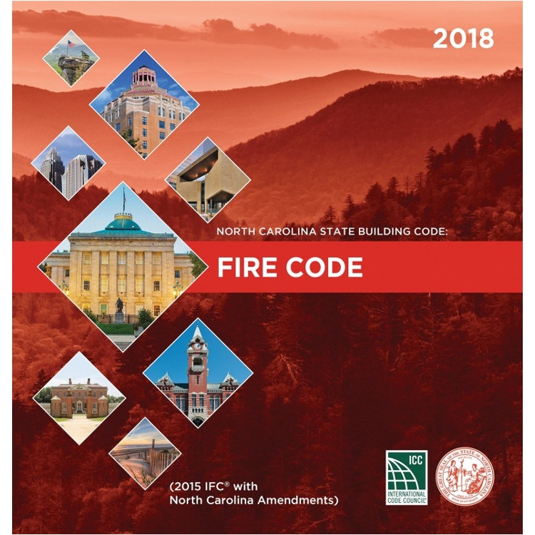North Carolina State Building Code: Fire Prevention Code 2018 - ISBN#9781609838263