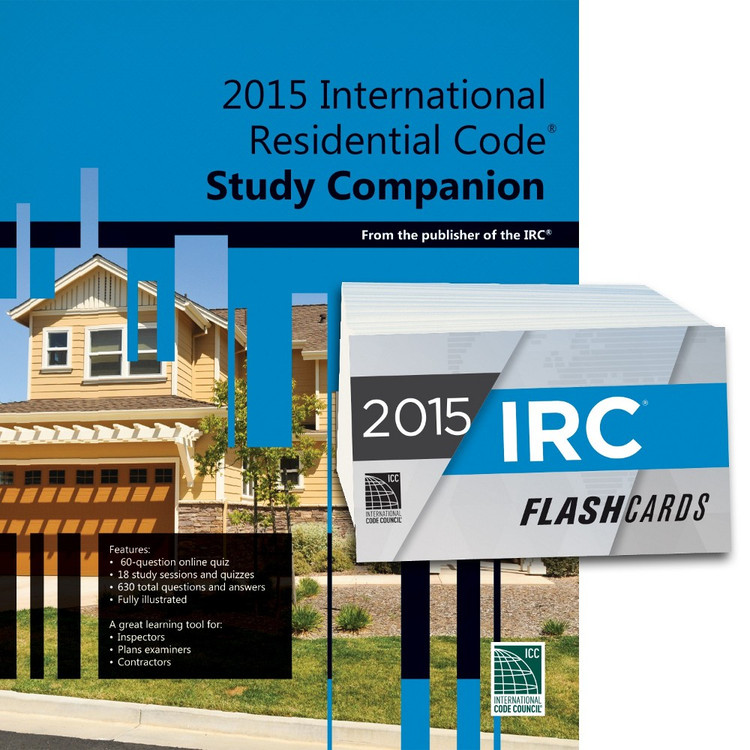 2015 International Residential Code Study Companion and Flash Card Set