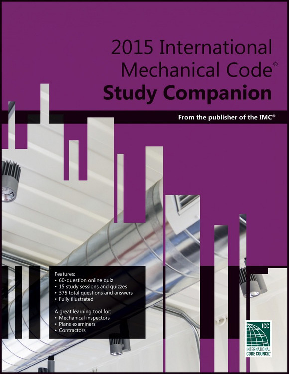 2015 International Mechanical Code Study Companion - ISBN#9781609835446
