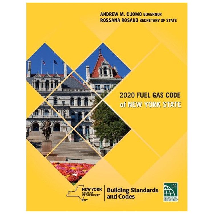 2020 Fuel Gas Code of New York State - ISBN#9781609839154
