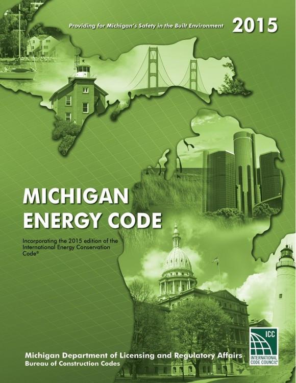 2015 Michigan Energy Code - ISBN#9781609837044