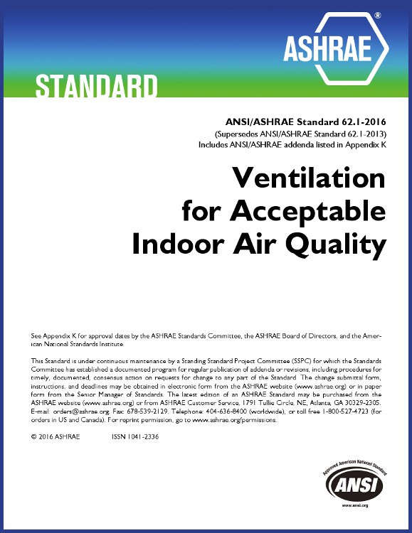 ASHRAE 62.1-2016 Ventilation for Acceptable Indoor Air Quality