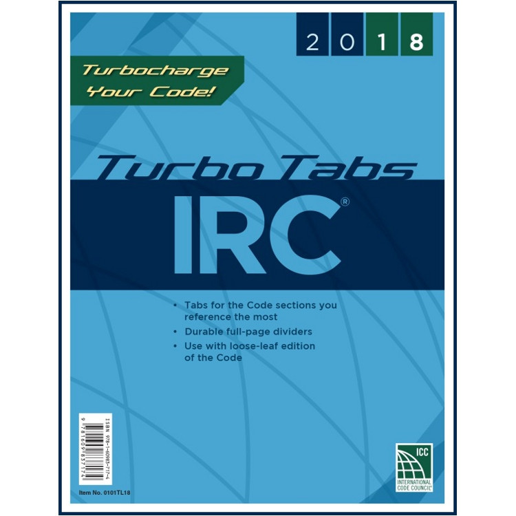 2018 IRC Turbo Tabs (Looseleaf)
