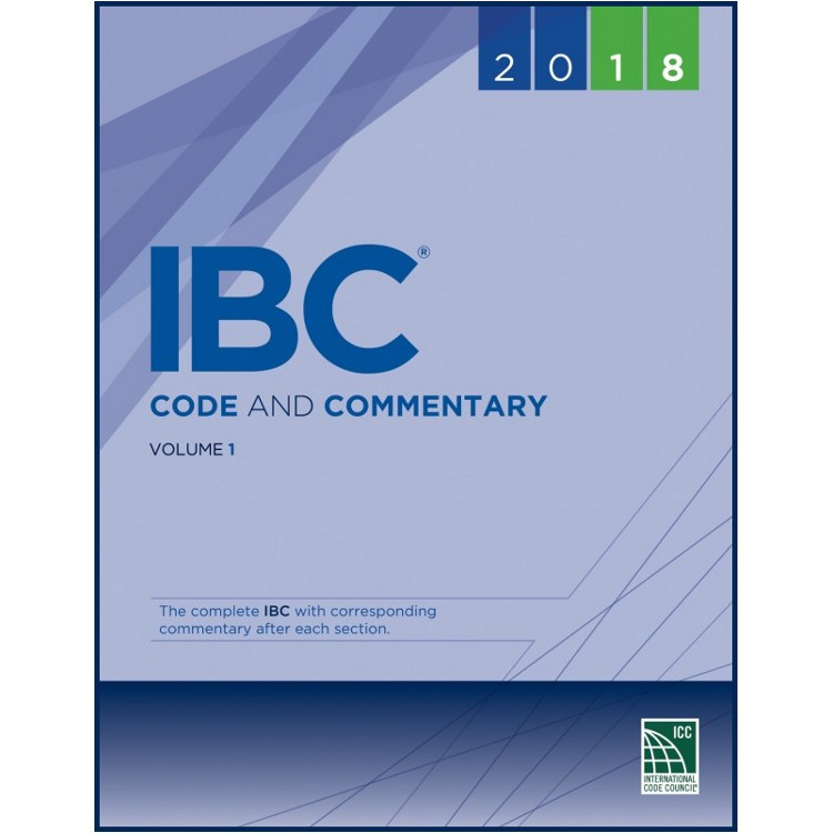 2018 IBC Code and Commentary Volume 1 - ISBN#9781609837655