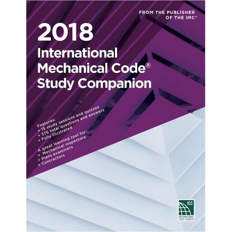 2018 International Mechanical Code Study Companion - ISBN#9781609837969