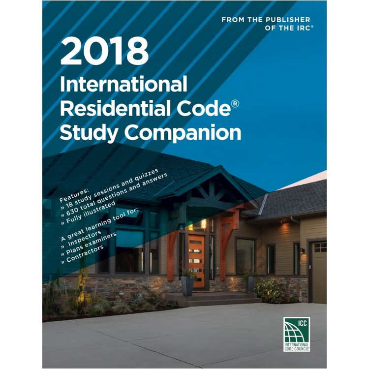 2018 International Residential Code Study Companion - ISBN#9781609837938