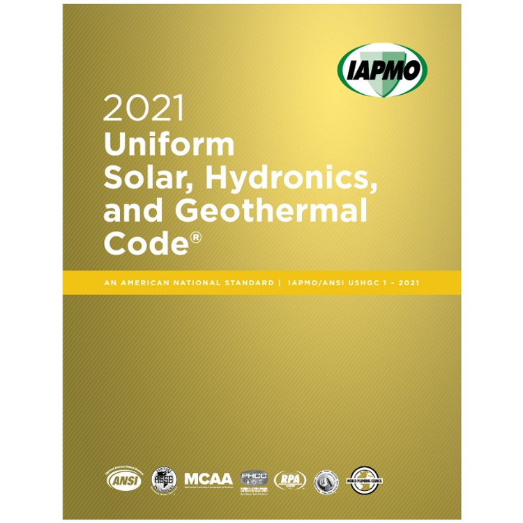 2021 Uniform Solar, Hydronics and Geothermal Code