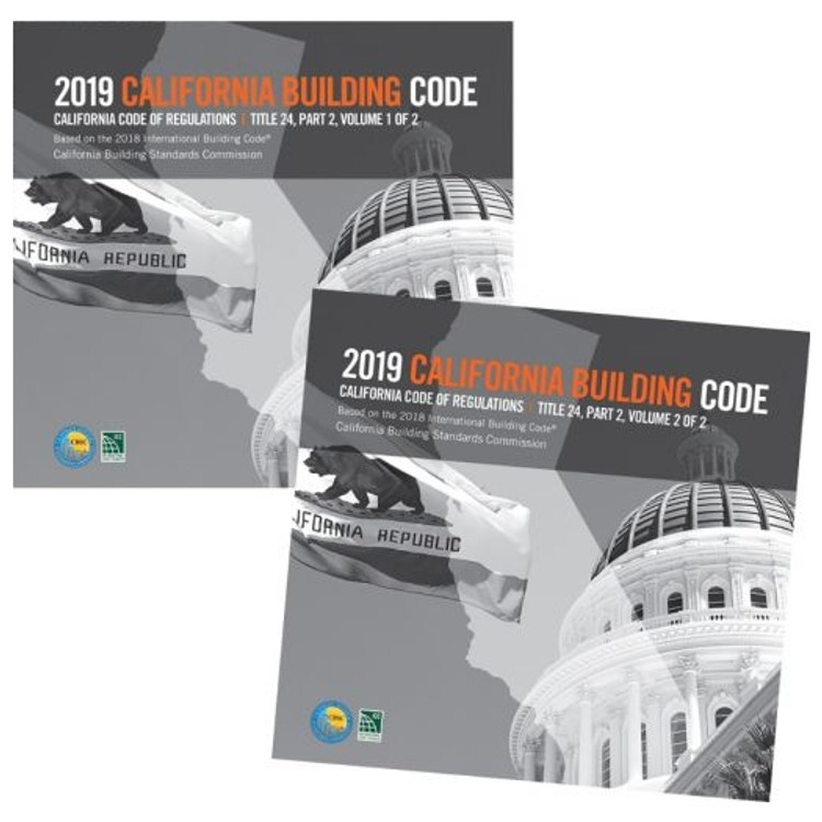 2019 California Building Code (Title 24 Part 2) - ISBN#9781609838911