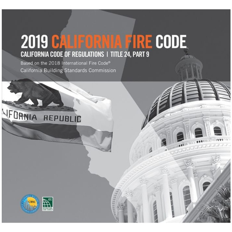 2019 California Fire Code (Title 24 Part 9) - ISBN#9781609838942