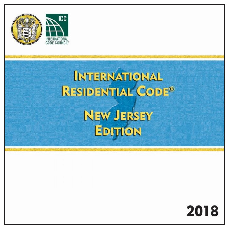 2018 International Residential Code New Jersey Edition - ISBN#9781609838881