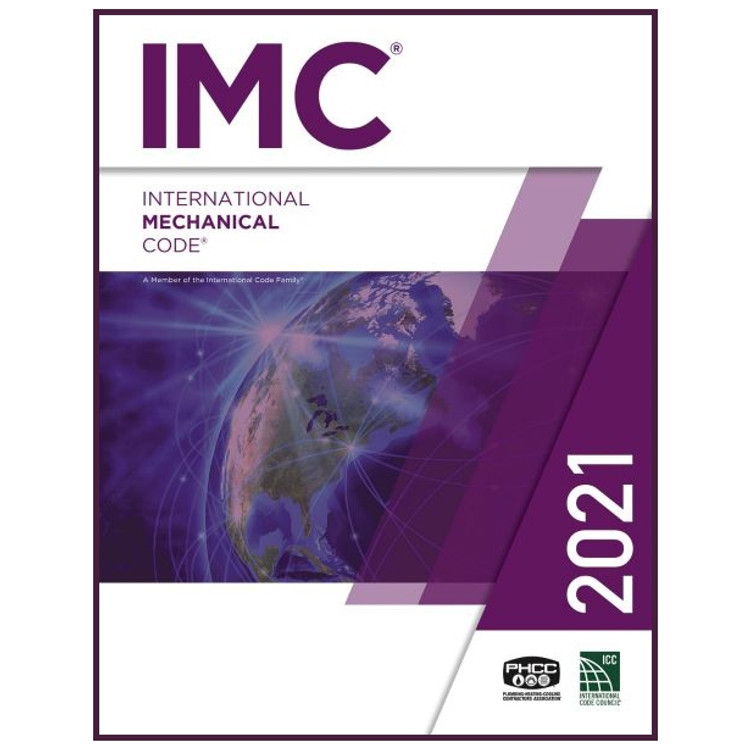 2021 International Mechanical Code - ISBN#9781609839642