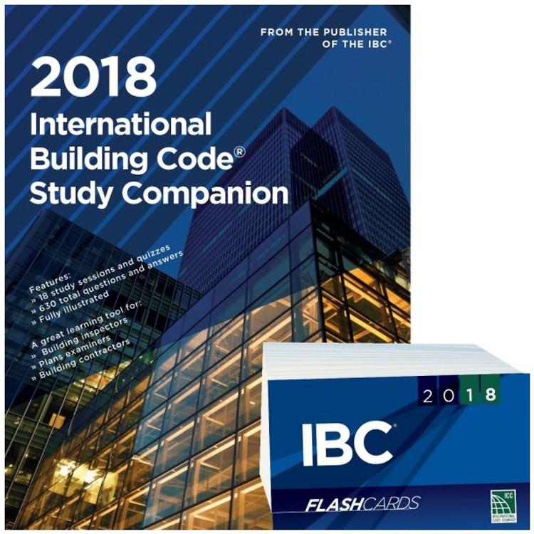 2018 International Building Code Study Companion and Flash Card Set