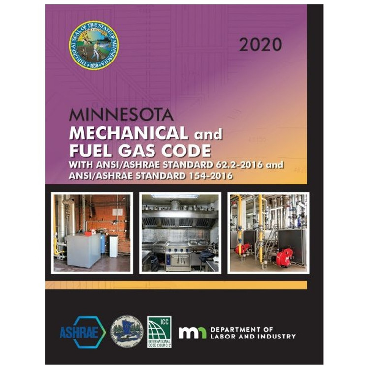 2020 Minnesota Mechanical and Fuel Gas Code-ISBN#9781609839932