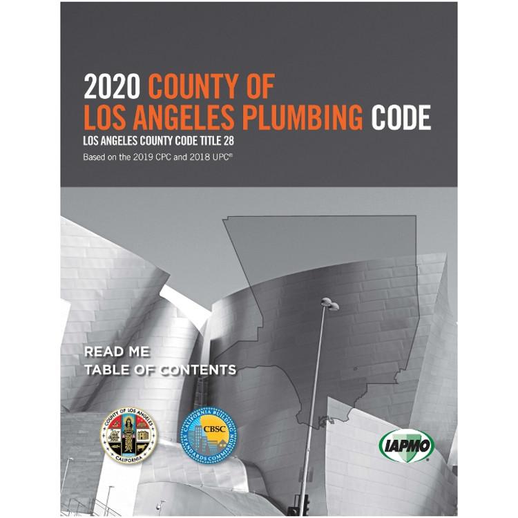 2020 County of Los Angeles Plumbing Code