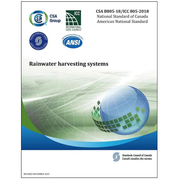 CSA B805-18/ICC 805-2018 - Rainwater Harvesting Systems-ISBN#9781488311352