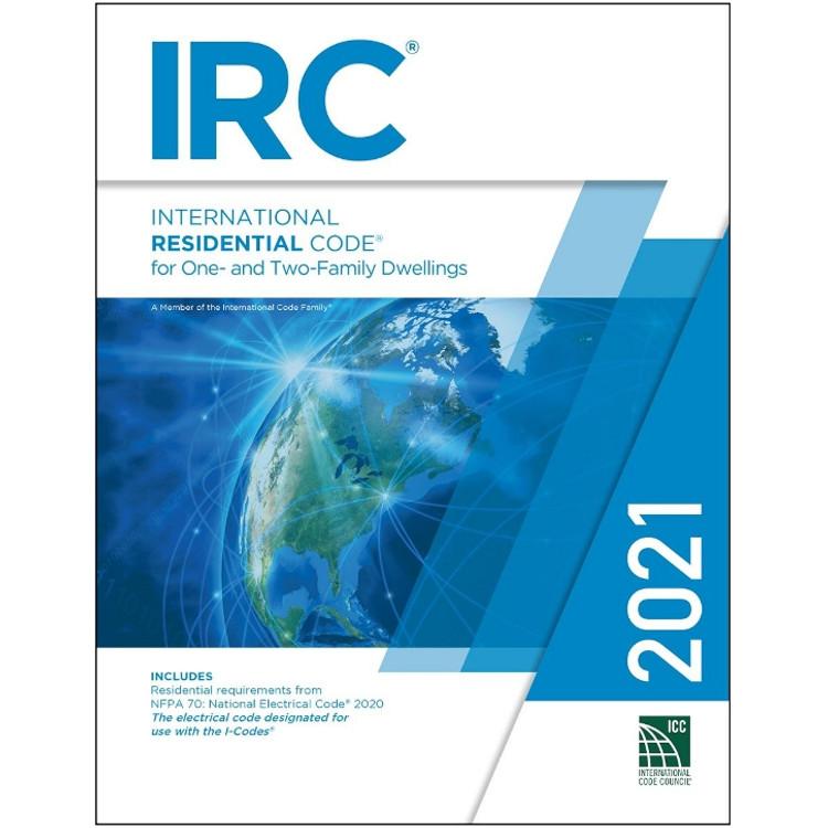 2021 International Residential Code Looseleaf - ISBN#9781609839567
