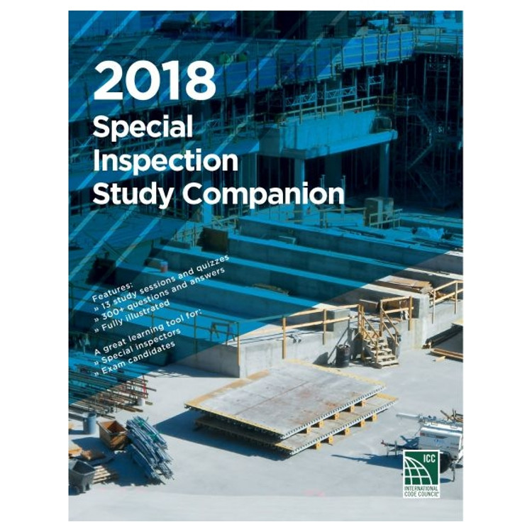2018 Special Inspection Study Companion - ISBN#9781952468070