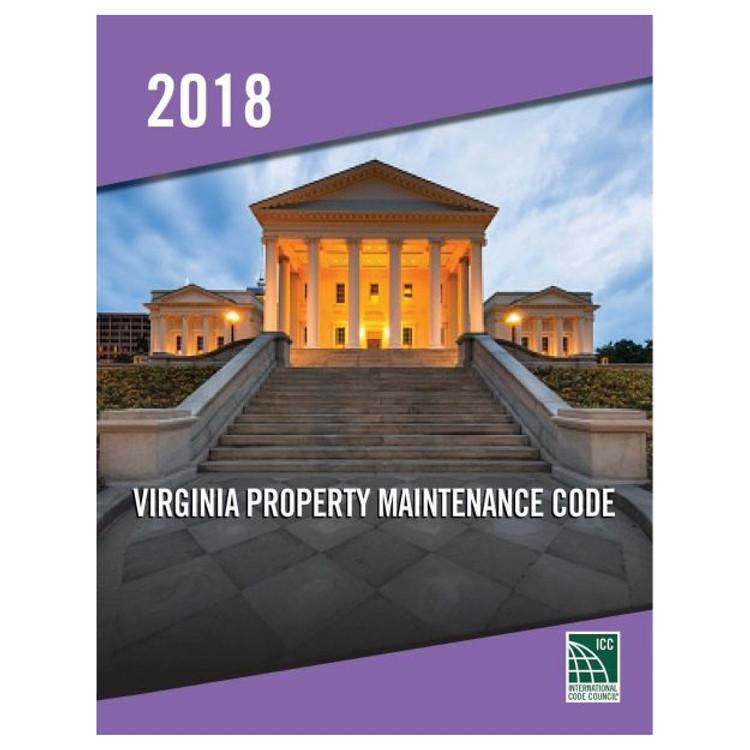 2018 Virginia Property Maintenance Code - ISBN#9781955052856