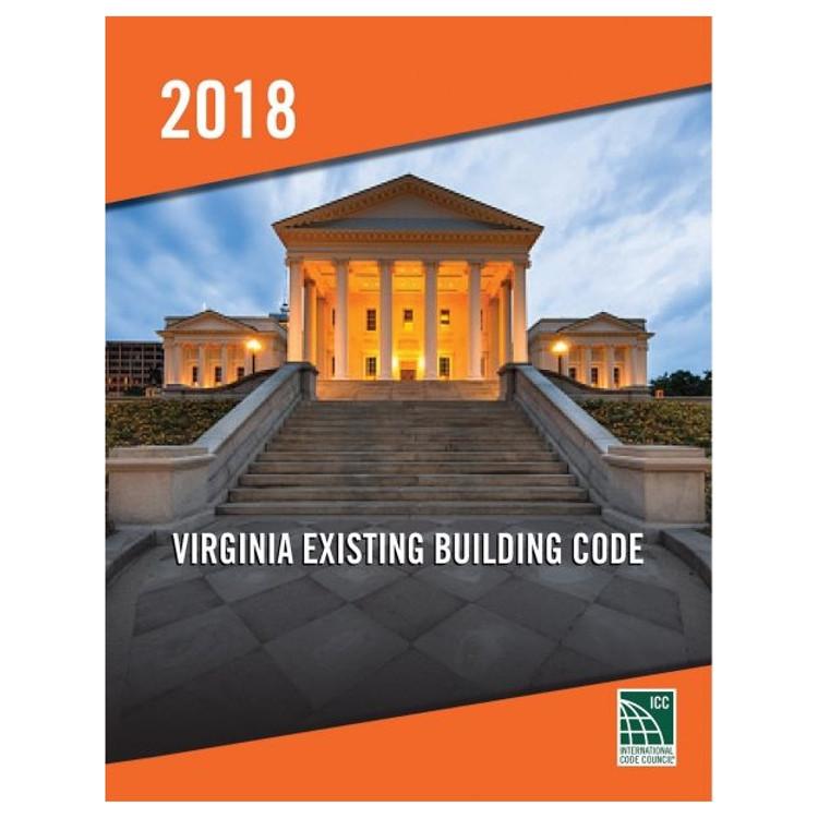 2018 Virginia Existing Building Code - ISBN#9781955052870